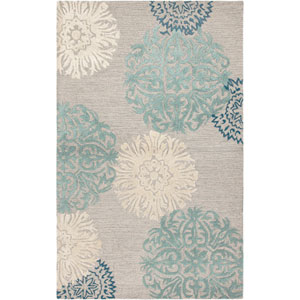 Dimensions Rectangle: 5 Ft. x 8 Ft. Light Gray Rug