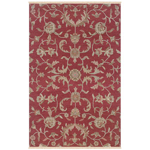 Elegance Rectangle: 5 Ft. 6 In. x 8 Ft. 6 In. Red Rug