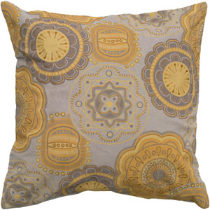 One of a Kind Yellow 20-Inch Throw Pillow