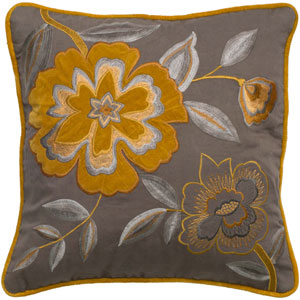 One of a Kind Yellow 18-Inch Throw Pillow
