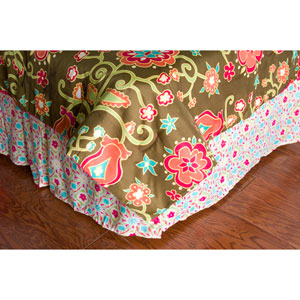 Laura Fair Suzie Q Pink Full/Queen Bed Skirt