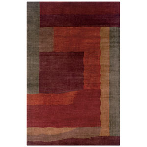 Organza Rectangle: 5 Ft. 6 In. x 8 Ft. 6 In. Rust Rug