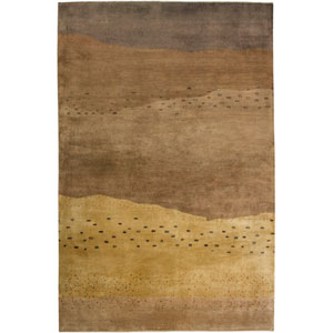Organza Rectangle: 5 Ft. 6 In. x 8 Ft. 6 In. Brown Rug