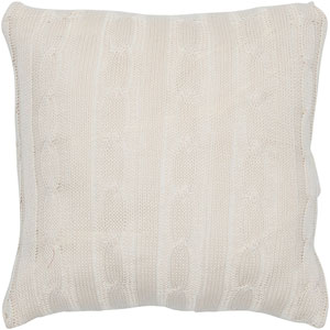 Cream 18-Inch Holiday Pillow