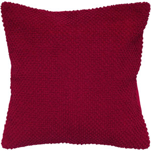 Red 20-Inch Holiday Pillow