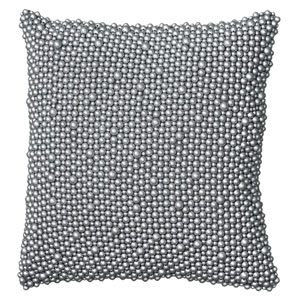 Gray 12-Inch Holiday Pillow