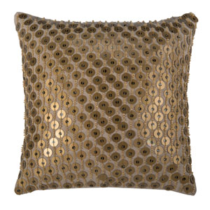 Khaki 12-Inch Holiday Pillow