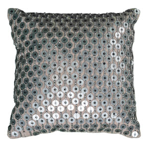 Silver 12-Inch Holiday Pillow