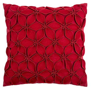 Red 18-Inch Holiday Pillow