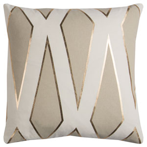 Rachel Kate Geometric Gray and White 20 In. Pillow Cover