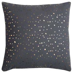 Rachel Kate Gray and Gold Dots 20 In. Pillow Cover