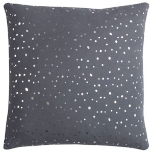 Rachel Kate Gray and Silver Dots 20 In. Pillow Cover