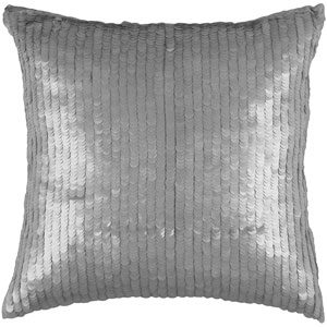 Gray 18-Inch Holiday Pillow