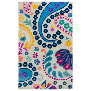 Play Day  Blue Rectangular: 3 Ft. x 5 Ft.  Rug