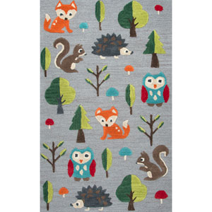 Play Day  Gray Rectangular: 3 Ft. x 5 Ft.  Rug