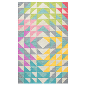 Play Day  Multicolor Rectangular: 3 Ft. x 5 Ft.  Rug