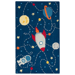Play Day  Navy Rectangular: 3 Ft. x 5 Ft.  Rug