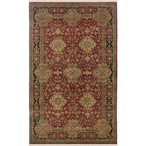 Puria Rectangle: 5 Ft. 6 In. x 8 Ft. 6 In. Burgundy Rug