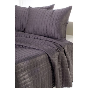 Satinology Grey Two-Piece Twin Quilt Set