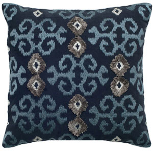 One of a Kind Blue 18-Inch Throw Pillow