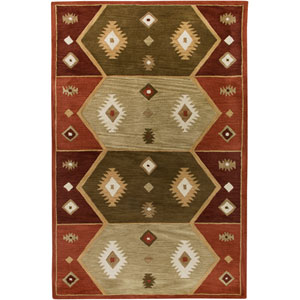 Southwest Rectangle: 5 Ft. x 8 Ft. Hopi Red Rug