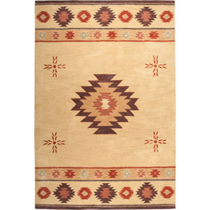 Southwest Rectangle: 5 Ft. x 8 Ft. Beige Rug