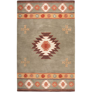 Southwest Rectangle: 5 Ft. x 8 Ft. Green Rug