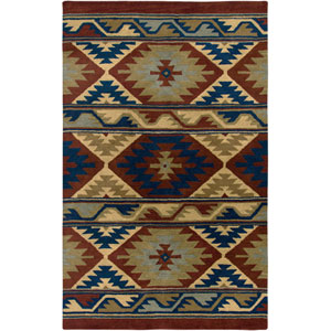 Southwest Rectangle: 5 Ft. x 8 Ft. Red Rug
