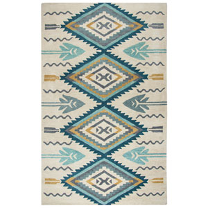 Southwest Aqua Rectangular: 2 Ft. x 3 Ft.  Rug