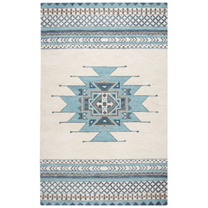 Southwest Blue Rectangular: 2 Ft. x 3 Ft.  Rug