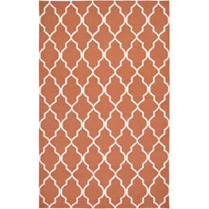 Swing Rectangle: 5 Ft. x 8 Ft. Orange Rug