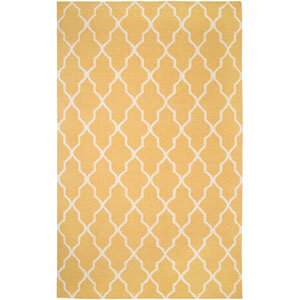 Swing Rectangle: 5 Ft. x 8 Ft. Yellow Rug