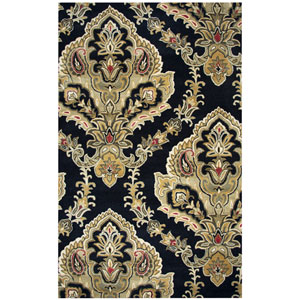 Valintino Black Rectangular: 8 Ft. x 10 Ft.  Rug