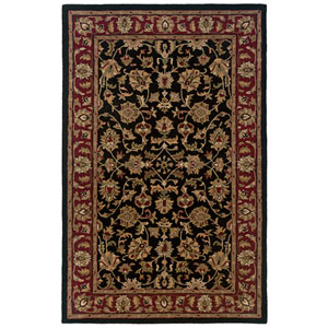 Volare Rectangle: 5 Ft. x 8 Ft. Black Rug