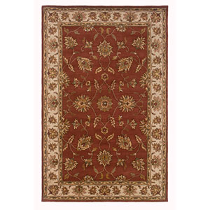 Volare Rectangle: 5 Ft. x 8 Ft. Rust Rug