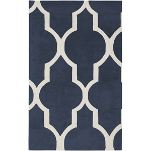 Volare Rectangle: 5 Ft. x 8 Ft. Navy Rug