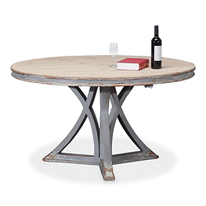 Gray Round Dining Table