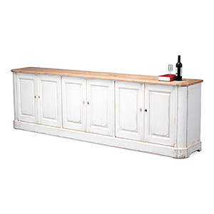 Antique White 119-Inch Sideboard