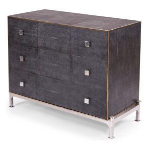 Gray Grey Shagreen Dresser