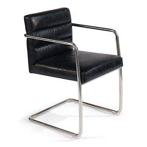 Black Leather Seating Preminger Chair