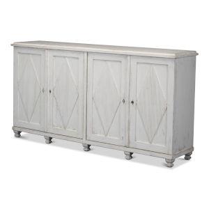 White Four-Door Sideboard