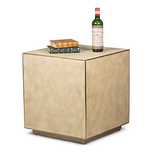 Beige Buckhall Shagreen Side Table