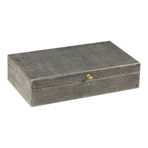 Black Gatsburg Shagreen Box