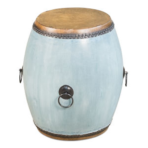 Blue Drum End Table