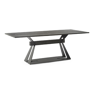 Lionskin Natural 36-Inch Rift Dining Table