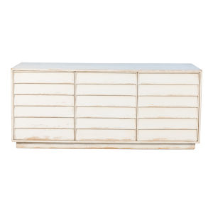 White 20-Inch Louvered Sideboard
