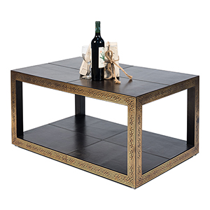 Brown Coach Cocktail Table
