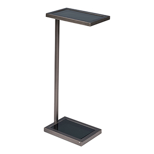 Black One Note End Table