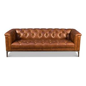 Brown 35-Inch Sofa