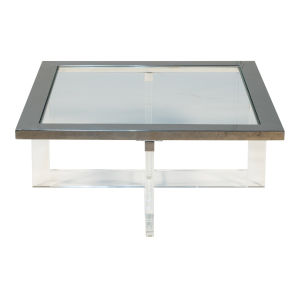 Silver 39-Inch Coffee Table